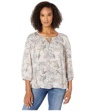 Tribal Long Sleeve Flowy Blouse