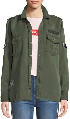 Rails Kato Button-Front Military Shirt w/ Patches