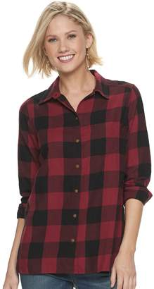 Sonoma Goods For Life Petite SONOMA Goods for Life Plaid Flannel Shirt