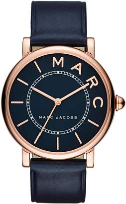 Marc Jacobs Classic Leather Strap Watch, 36mm