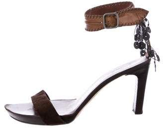 Henry Beguelin Embellished Ankle Strap Sandals