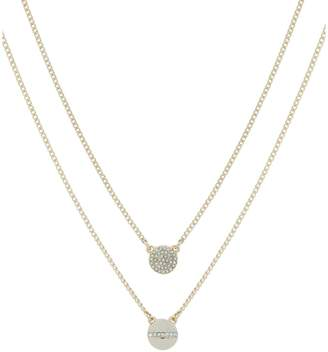 DKNY Rector Goldtone Crystal Double Pendant Necklace