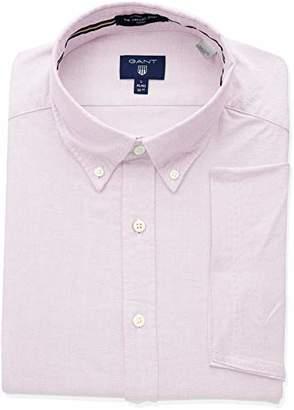 Gant Men's The Fitted Oxford Short Sleeved Shirt