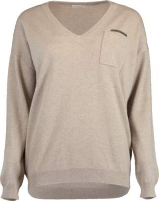 Brunello Cucinelli Cashmere Boyfriend Sweater
