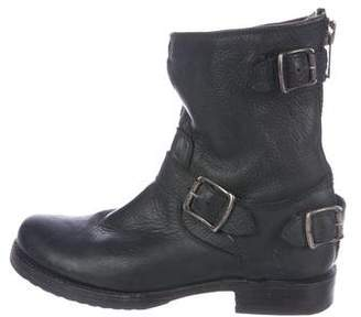 Frye Leather Round-Toe Ankle Boots