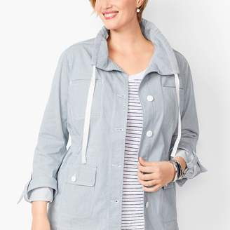 Talbots Stripe Twill Jacket