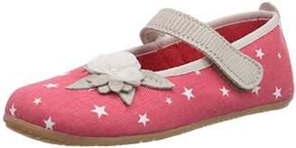 Living Kitzbühel Girls Ballerina Sterne & Blum Unlined low house shoes Red Rot (345 koralle) Size: 35 EU