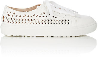 Sam Edelman SAM EDELMAN WOMEN'S RAINA LASER-CUT LEATHER SNEAKERS $70 thestylecure.com