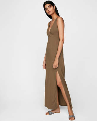 7e0b7b6492d3 ... Express Empire Waist Surplice Knit Maxi Dress