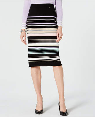 Tommy Hilfiger Multi-Color Striped Pull-On Skirt