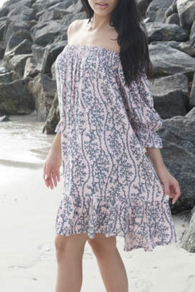 Lani Lau Hawaii Sea Coral Indigo Dress