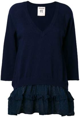 Semi-Couture Semicouture ruffled design loose sweater