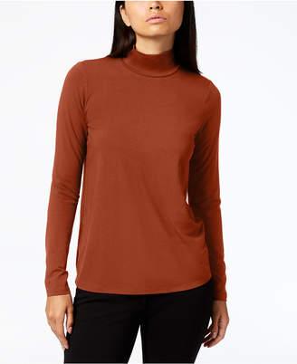 Eileen Fisher Stretch Jersey Mock-Neck Top, Regular & Petite