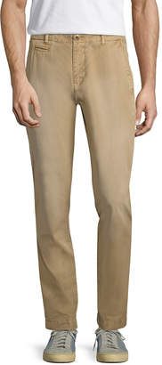 Knowledge Cotton Apparel Solid Flat Front Slim Fit Chino