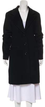 DKNY Button-Up Wool Coat