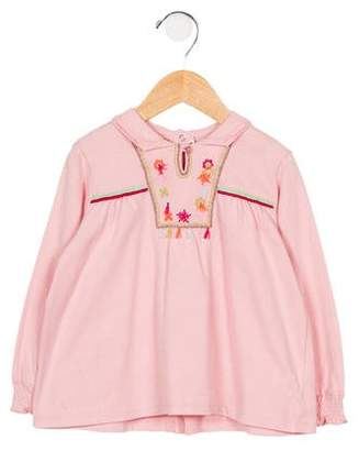 Catimini Girls' Embroidered Long Sleeve Top w/ Tags