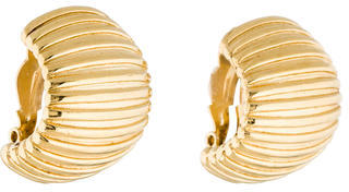 Givenchy Givenchy Ribbed Clip-On Earrings
