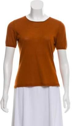 Akris Short Sleeve Cashmere Top Orange Short Sleeve Cashmere Top