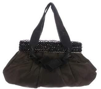 Prada Embellished Top Frame Bag