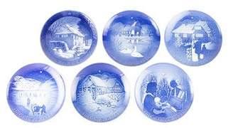 Royal Copenhagen 6-Piece Christmas Plates 1971-1976