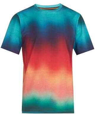 Paul Smith Dreamer Gradient Print Cotton T Shirt - Mens - Multi