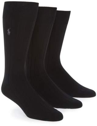Ralph Lauren 3-Pack Supersoft Ribbed Socks