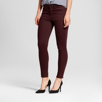 Mossimo Women's Jeans High Rise Skinny - Mossimo Burgundy $29.99 thestylecure.com