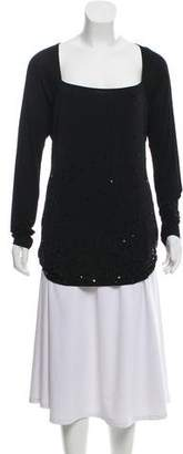 DKNY Sequin Embellished Long Sleeve Top w/ Tags