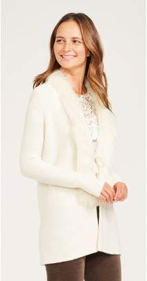 J.Mclaughlin Karole Faux Fur Cardigan