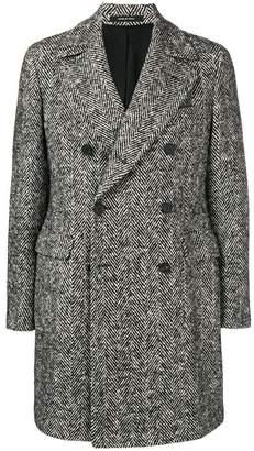 Tagliatore chevron double-breasted coat