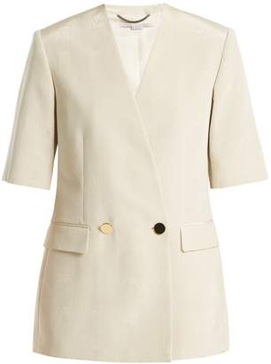Stella McCartney Double-breasted cotton-blend jacket