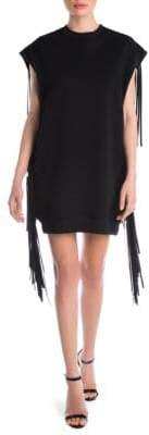 MSGM Fringed Sweatshirt Dress