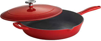 Tramontina Gourmet 12 Enameled Cast Iron Covered Skillet