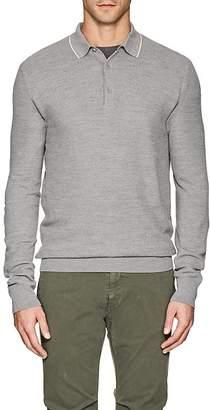 Loro Piana Men's Piqué-Knit Wool-Cashmere Polo Shirt