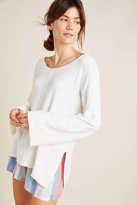 Anthropologie Kiera Tie-Back Hacci Pullover