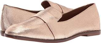 Kenneth Cole Reaction Women's Glide Slide Menswear Inspired Loafer with Square Toe Leather Upper Slip