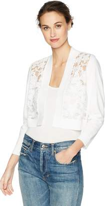 Calvin Klein Women's 3/4 Sleeve Shrug with Lace Front