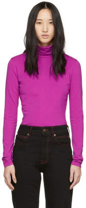 Calvin Klein Purple Classic Turtleneck