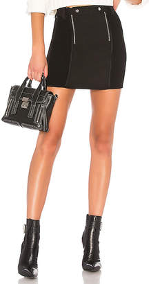 Alexander Wang Paneled Bodycon Mini Skirt