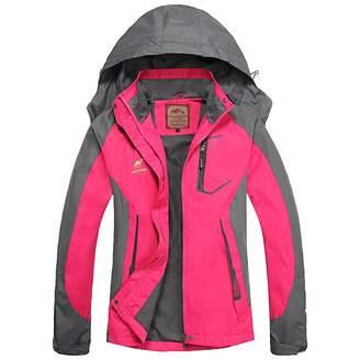 Roland Mouret Diamond Candy Hooded Waterproof Jacket raincoat Softshell Women Sportswear GM