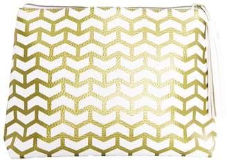 Mystic Divine White & Gold Tassel Clutch