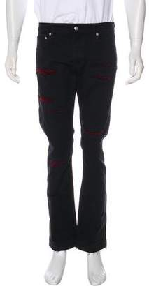 Alexander McQueen Distressed Twill Jeans