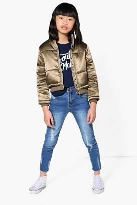 boohoo Girls Distressed Tube Jeans