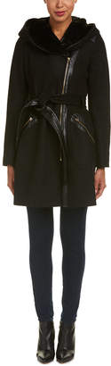 Via Spiga Kate Wool-Blend Wrap Coat