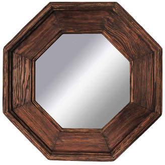 PTM Rustic Natural Brown Octagonal Mirror