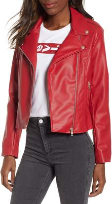 BB Dakota Beverly Thrills Faux Leather Jacket