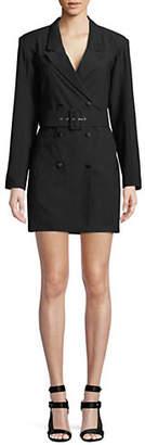 Missguided Crepe Belted Blazer Dress