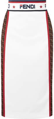 Fendi Jacquard Midi Skirt - White