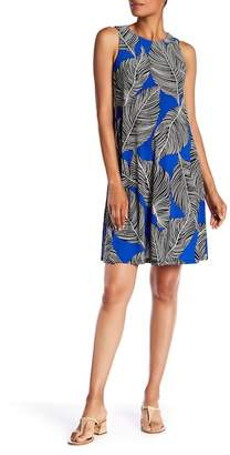 Nine West Print Sleeveless Trapeze Dress