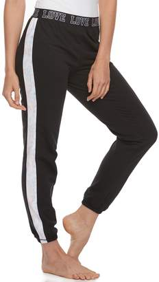 So Juniors' SO Pajamas: Velour Piecing Jogger Pants